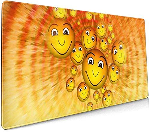 Wild Olifanten Profional Grote Muis Pad Toetsenbord Pad Lange ed Multifunctionele Computer Game Muis Mat Eén maat Smiley Emoticon Cartoon