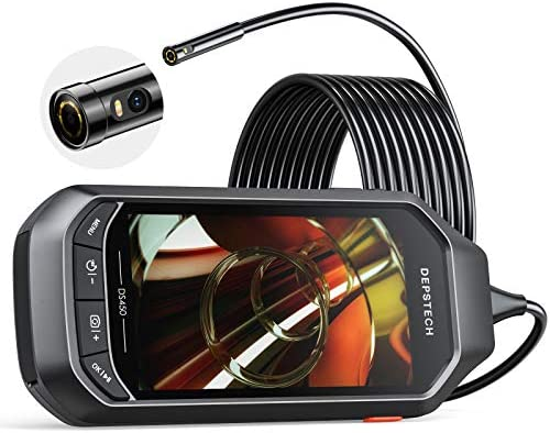 Dual Lens Video Endoscope Camera with Lights DEPSTECH 2 0MP HD Inspection Camera with 4 5 IPS product image