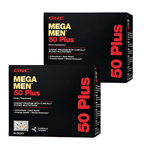 GNC GNC Mega Men 50 Plus Vitapak Program - Twin Pack