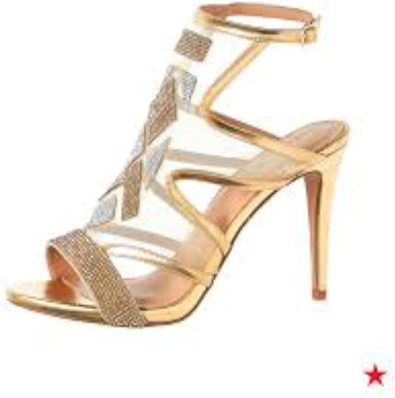Thalia Sodi Womens Regalo Open Toe Ankle Strap Classic, pink gold, Size 8.0