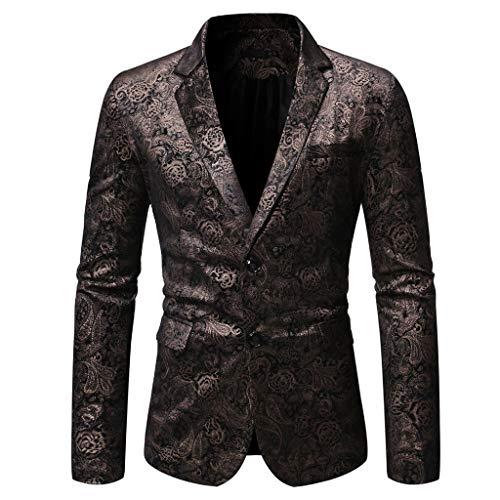 Plot Herren Anzug Jacke Velour Sakko Blazer Samt Einknopf Anzugjack Slim Fit Herrenanzug für Hochzeit Business Freizeit Party
