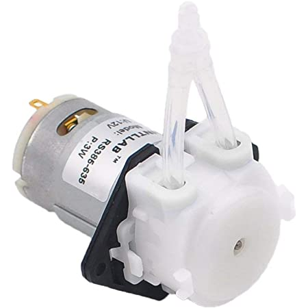 White Micro Peristaltic Pump with Abs Medium Flow Depends on Power Supply Peristaltic Pump 24V for Laboratory Analytic