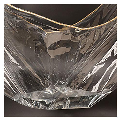 GYYARSX Tarps Glass Clear Tarpaulin Waterproof Heavy Duty Thicken Transparent Soft Glass PVC Rain Cloth, Insulation Anti-aging Tear Resistance, Used For Outdoor Camping, 23 Sizes