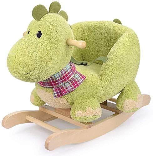 Zjcpow Schaukelpferd Trojanisches Pferd Spielzeug-Baby-Dinosaurier-Schaukelstuhl Altes Geschenk Baby-Schwing Cradles xuwuhz