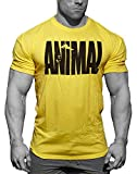 Photo Gallery minetom t-shirt uomo leisure basic manica corta stampa animale girocollo tops bodybuilding allenamento muscoli tee shirt giallo eu m