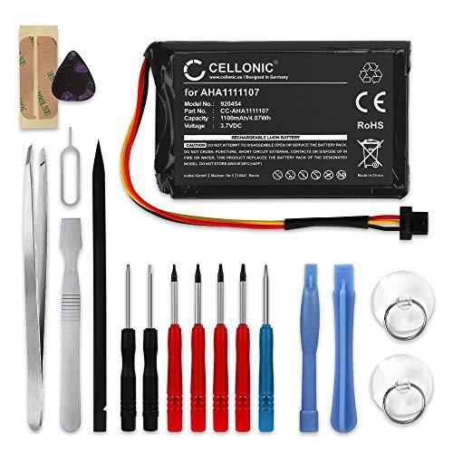 CELLONIC® Batería de Repuesto AHA1111107, AHA11111010, P6 Compatible con Tomtom Go Essential/Go 6100 / Go 610 / Go 600 | (4FA60) 1100mAh + Juego de Destornilladores Accu GPS Pila sustitución B