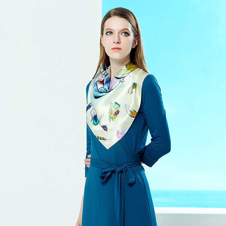 Xingling Woman's Silk Scarf 100% Mulberry Square Scarves Satin Bandana Ladies Hair Scarf Neckerchief Wraps Handbag 6868cm,BLCE-06