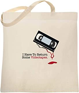 I Have To Return Some Videotapes Large Canvas Tote Bag Women