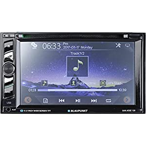 Blaupunkt 120 6.2-Inch Touch Screen DVD Multimedia Car Stereo Receiver with Bluetooth