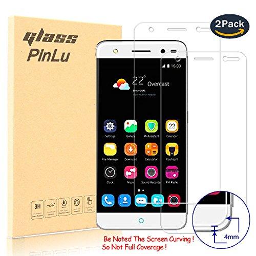 pinlu [2 Pack] Protector de Pantalla de Cristal para ZTE Blade V7 Lite (5.0pulgadas) Protector Cristal Vidrio Templado para ZTE V7 Lite [9H/0.26mm,99% Transparente]