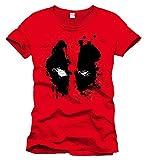 Marvel- Deadpool Splash Head Camiseta, Color (Rouge), Small (Talla del Fabricante: S)...