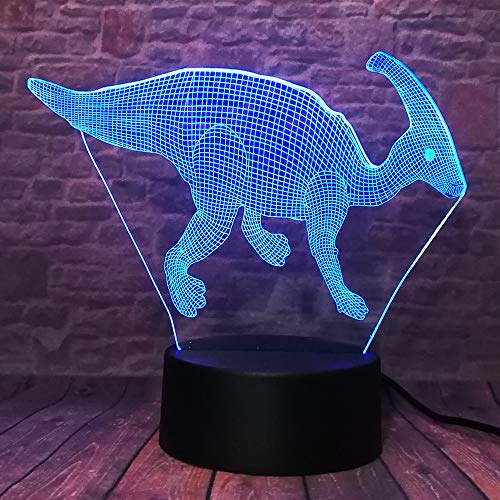 Qaq Starry Skyclassic dinosaurus Action Figure Dragon 7 kleuren veranderende jongen slaapkamer slaapkamer decor nachtlampje Child Xmas Holiday Gifts