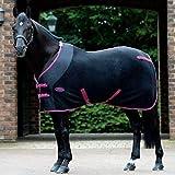 Weatherbeeta - Couverture pour cheval en polaire (encolure standard), Bleu marine/rouge/blanc, 5'3