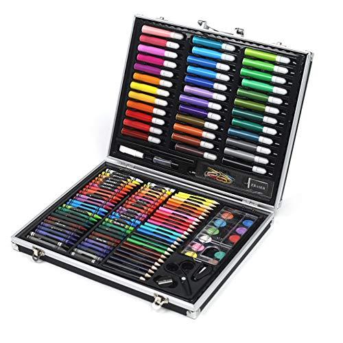 Kleurpotloden Sketch Set 150 kunstsets met aquarel schilderijen, inclusief een gratis herbruikbare plastic koffer. Aquarel Schilderij Kleurplaten