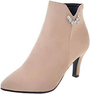 MisaKinsa Women Fashion Ankle Booties High Heels Party Shoes