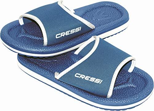 Cressi Unisex Erwachsene Lipari Badelatschen für Strand und Pool, Hellblau/Weiß, 44 EU