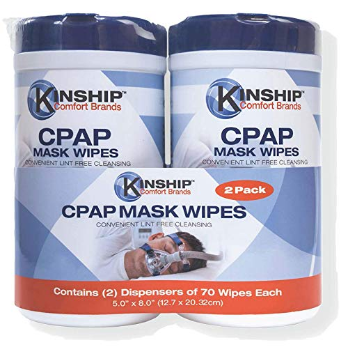 CPAP Mask Wipes (140 Count 2-70 Count Packs) Lint Free Easy Opening top. CPAP Wipes for Mask, CPAP Filters, CPAP Brushes and CPAP Machines, no Chemical Residue, unscented or Odor.