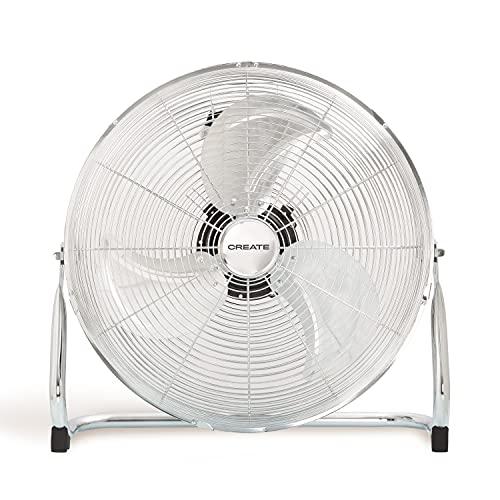 """IKOHS EOLUS Turbo - Ventilador de Suelo Industrial, 110 W, Potente Flujo de Aire, Ligero, Ajustable, con Patas Antideslizantes, 3 hélices, 3 velocidades, Motor Cobre (Plata- 18"""")"""