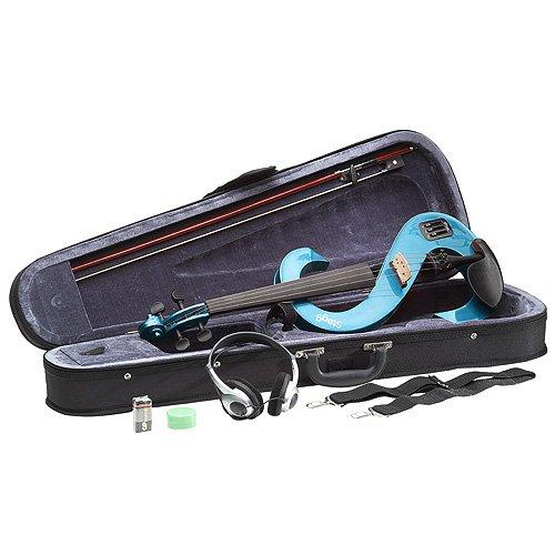 Stagg EVN 4/4 violín eléctrico MBL carcasa metálico del casco azul