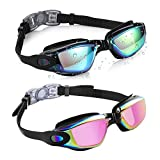 Aegend 2 Pack Swim Goggles, Swimming Goggles No Leaking Anti Fog...