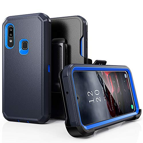 Samsung Galaxy A20 Case,Galaxy A30 Case,Heavy Duty Hard Shockproof Protector Shield Case Cover with Belt Clip Holster for Samsung Galaxy A20/A30 (Navy Blue)