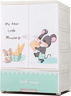 ZKHD Épaissir Une Armoire D'assemblage Simple pour Enfants, Armoire De Rangement en Plastique, Armoire De Rangement d'une ...