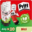 Pritt Stick Glue Solid Washable Non-Toxic Standard, 11 g - Pack of 10