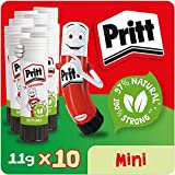 Pritt Stick Glue Solid Washable Non-Toxic Standard 11G Ref 1456040 [Pack Of 10]