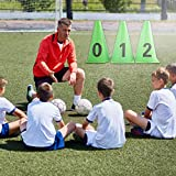Football Cone, 10pcs Soccer Marker, Football Barriers Marker Bright Green Soccer for Skating