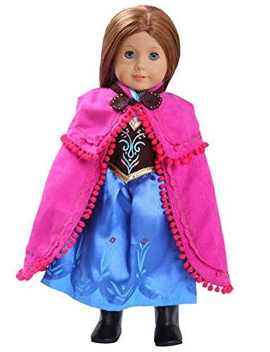 """Anna Inspired Doll Clothes for American Girl Dolls: 3 Pc Princess Outfit By Dress Along Dolly"""" (Incl"""