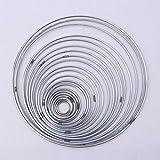 Dabixx - Set di 22 anelli in metallo per acchiappasogni da appendere alla parete, per arre...