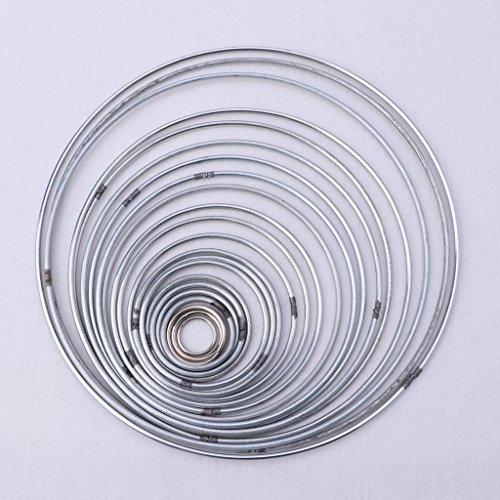 Dabixx - Juego de 22 aros de metal para colgar en la pared, macramé, manualidades, decoración del hogar, 18 mm-200 mm