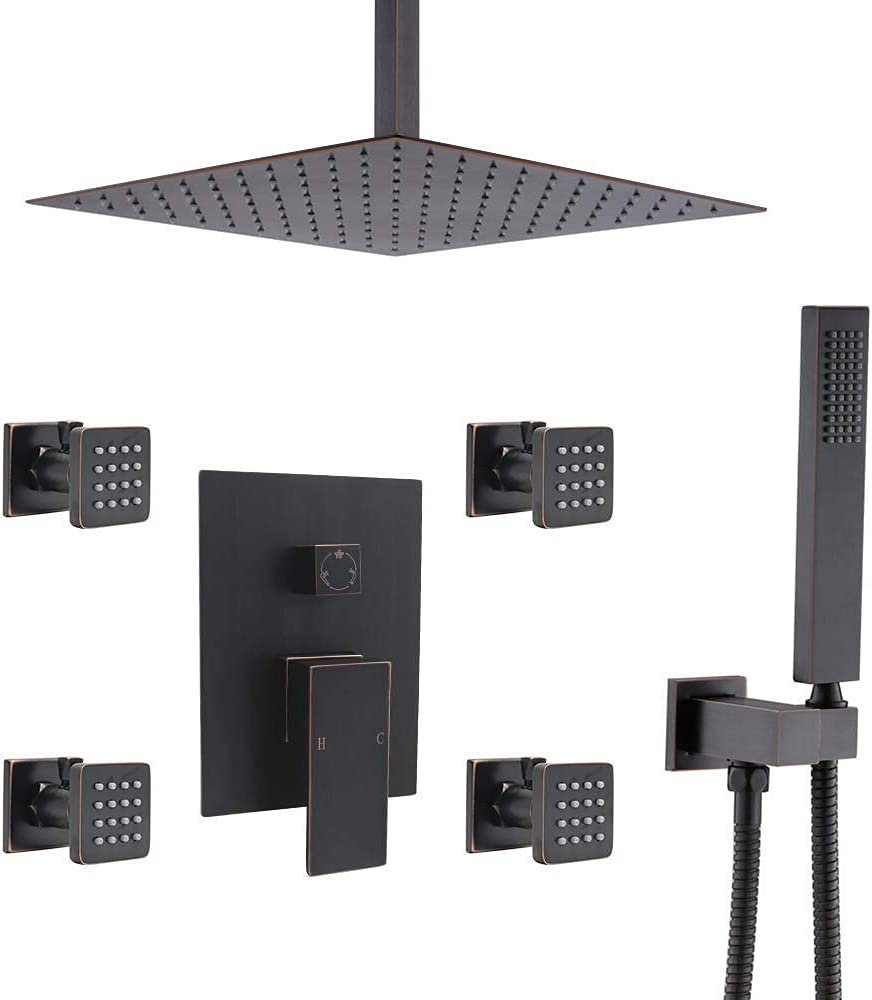 Max 58% OFF Manufacturer regenerated product Luxury Bathroom Shower Fixtures Rain Ceiling Combo Mixer