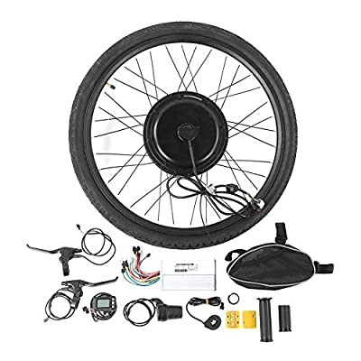 """48V 1000W Electric Bicycle Cycle 26"""" E?Bike Front Wheel Motor Conversion Set Kit Bicycle Cycling Engine Accessories Hub Motor Wheel"""