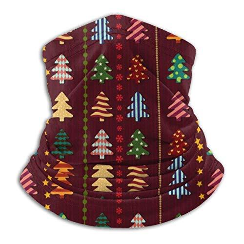 WlQshop Weihnachtsbäume Winter Fleece Hals Gamasche Halswärmer Tube Weiche elastische Sturmhaube Bandana Nahtloses Stirnband im Freien