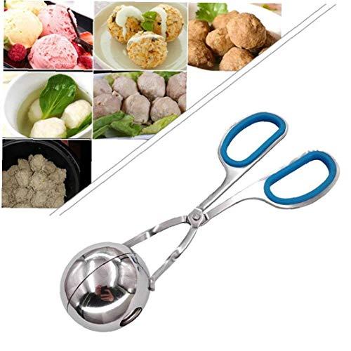 CULER Gefüllte Convenient Fisch Frikadelle Clip Edelstahl-Gadgets Reis-Ball-Maschine Fleisch Lebensmittel Tong Mold DIY (zufällige Farbe)