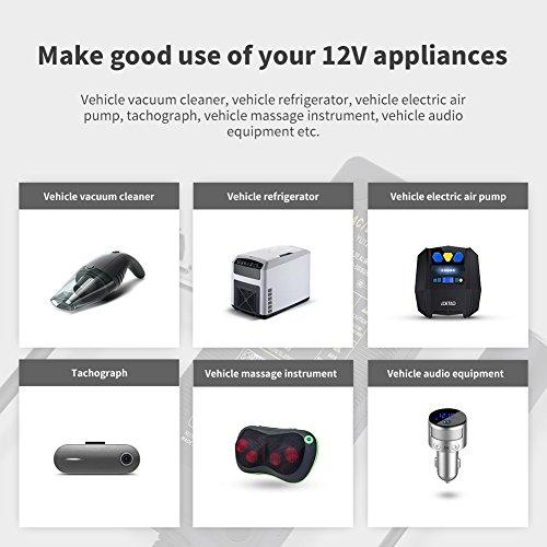 LOETAD AC to DC Converter 10A 120W, 110V 240V to 12V Car Cigarette Lighter Socket AC DC Power Supply Charging Adapter
