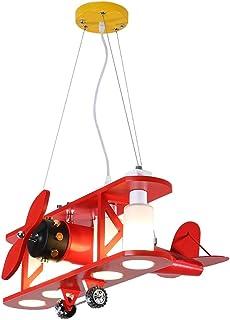 Belief Rebirth Luminaire Suspendu, modèle d'avion, Luminaire Suspendu Vintage de biplan en Bois décoratif 4 lumières - Lam...