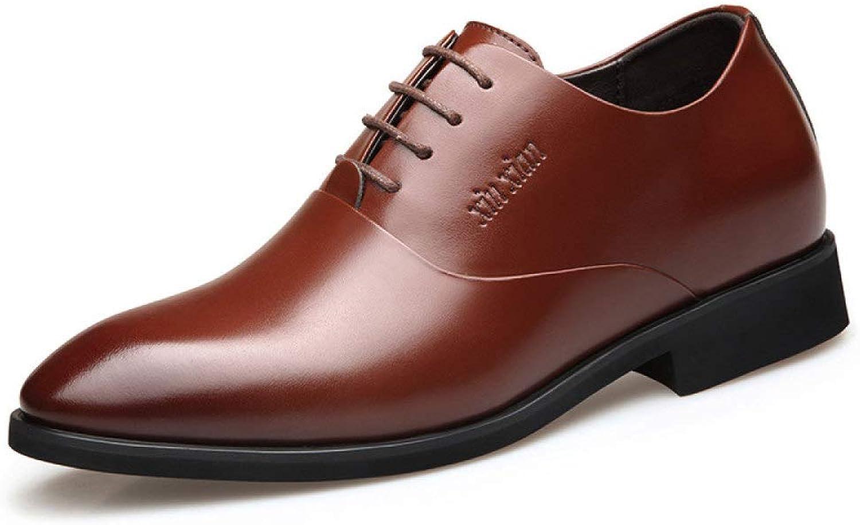 GTYMFH Leather shoes Men's shoes Business Dress Men's Tide
