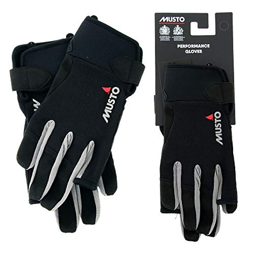 guanti barca a vela Musto Essential Long Finger Sailing Gloves - 2018 - Black XXL