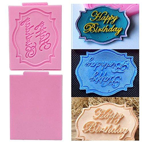 Bazaar Alles Gute verjaardag siliconen vorm kant taart versiering mould bakmat gereedschap