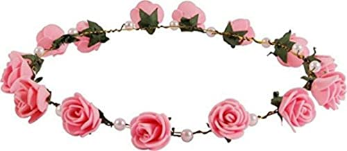 Wooden Stic Multicolor Floral Tiara for Girls Women