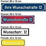 SCHILDER HIMMEL 2mm starke Metall Straßen Namen Schilder, Straßenummern/Straßennamen Schild, wetterfest, nichtrostend, Adressschild, Hausnummer Schild, hier Größe 80 x 15 cm