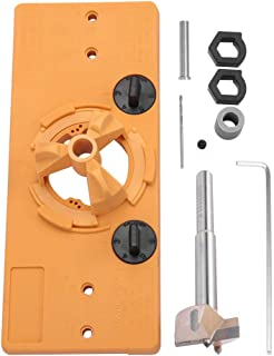 Akozon 35MM Hinge Boring Jig Drill Guide Set Door Installation Hole Locator for Woodworking Cup Style Guide Door Hole Opener Door Cabinets DIY Tool