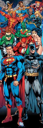 empireposter - Dc Comics - Justice League Of America - Größe (cm), ca. 53x158 - Türposter, NEU -
