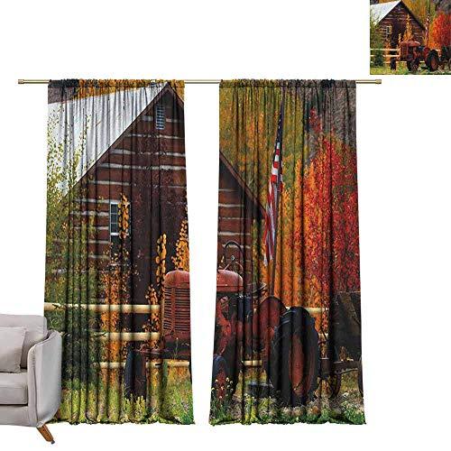 Tr.G verduisterende gordijnen voor kamer donkere panelen voor woonkamer slaapkamer herfst, idyllisch landschap rust in het park pad bos vredige omgeving Multi kleuren