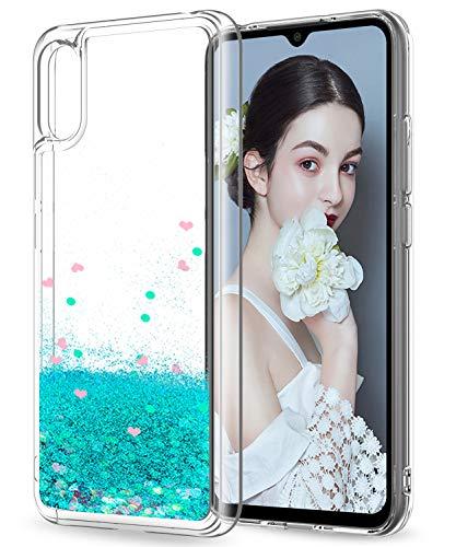 LeYi Funda Xiaomi Redmi 9A Silicona Purpurina Carcasa, Transparente Cristal Bumper Telefono Gel TPU Fundas Case Cover para Movil Redmi 9A ZX...
