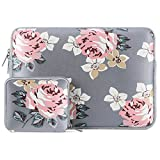 MOSISO Water Repellent Neoprene Sleeve Bag Cover Compatible with 13-13.3 inch Laptop with Small Case, Gray Rose