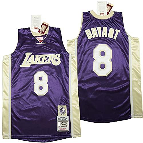 YDHZ Lakérs # 24 Kobé Bryant Hall of Fame Basketball Jersey Sportswear Sin Mangas de Manga Corta Camiseta Bordado Malla Baloncesto Swinger Unisex E-XL