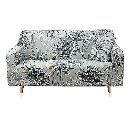 Juego de Fundas para sofá Funda para sofá Funda elástica para sofá para Sala de Estar Pida 2 Piezas para Adaptarse al sofá Chaise Longue en Forma de L A9 de 4 plazas